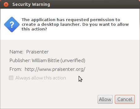 UbuntuDesktopLauncherWarning